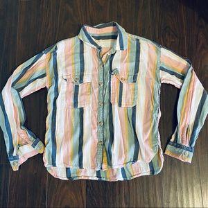 Pastel Stripes 90s Shirt